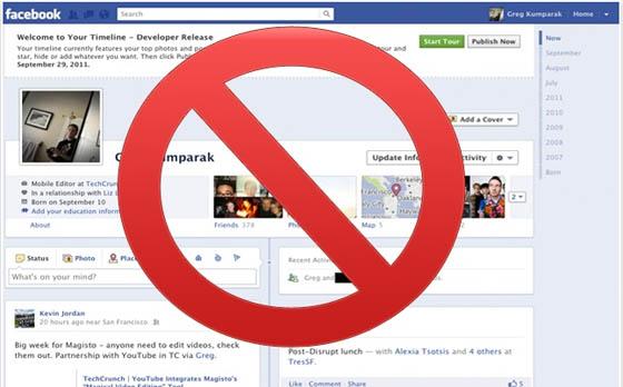 Disable or Deactivate Facebook Timeline