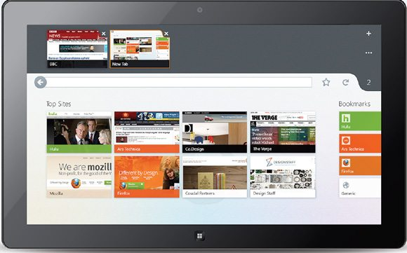Firefox Metro UI - Tabs Mockup