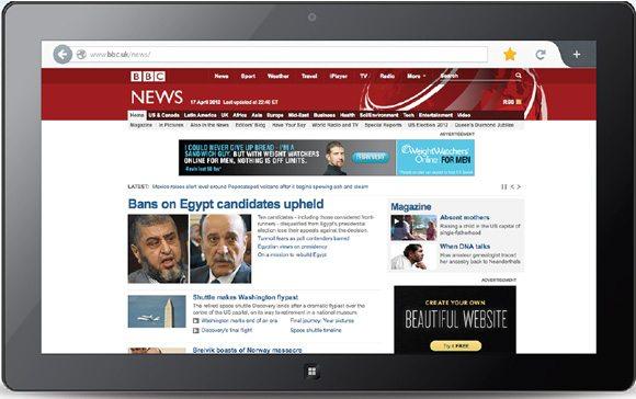 Firefox Metro UI - Web Page Mockup