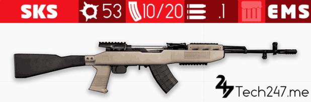 سلاح SKS في لعبة ببجي - لعبة PUBG
