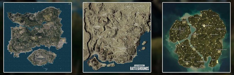 خرائط لعبة ببجي - لعبة PUBG