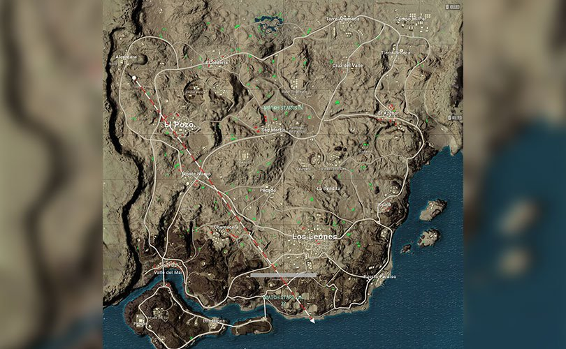خريطة Miramar في لعبة ببجي - لعبة PUBG
