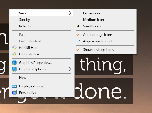 reduce desktop icon size