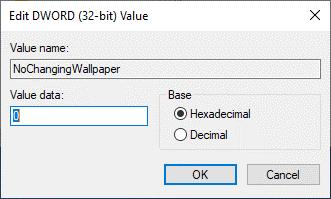 Can't change desktop background on Windows 10