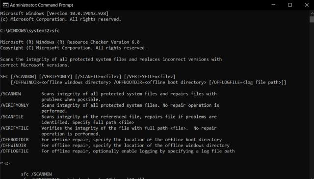 SFC: System File Checker