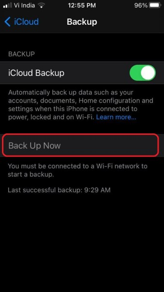 Backup Your Data to iCloud 3