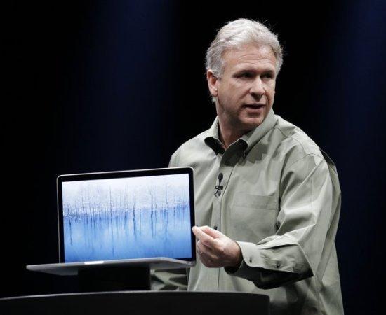 macbook pro has a brilliant retina display