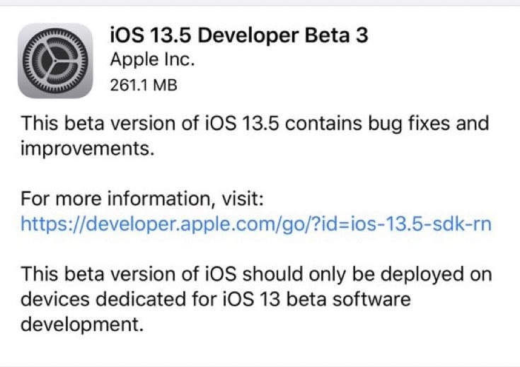 Apple's iOS 13.5 Beta: Everything you need to know