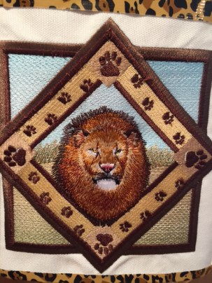 Hand embroidered emblem