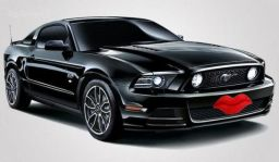 Mustang with Lips