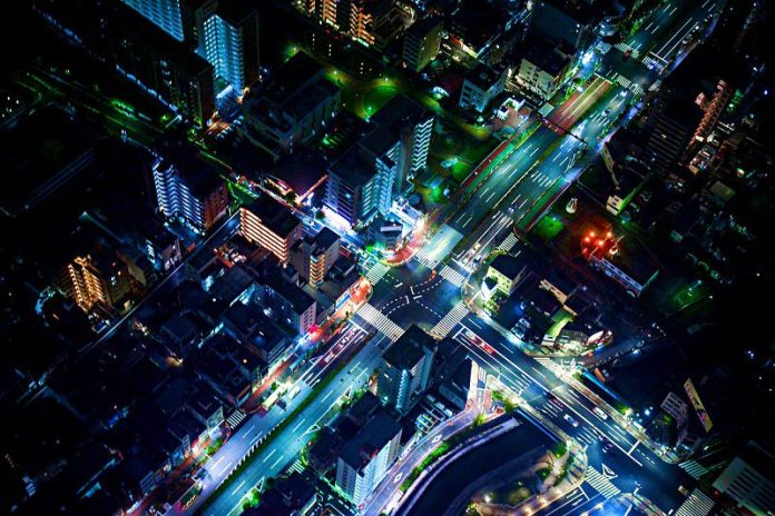 junction-traffic-aerial-view-urban-photo-transportation-innovation-blacklane-night-city