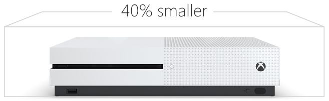 Microsoft Xbox One S Smaller 40 Percent