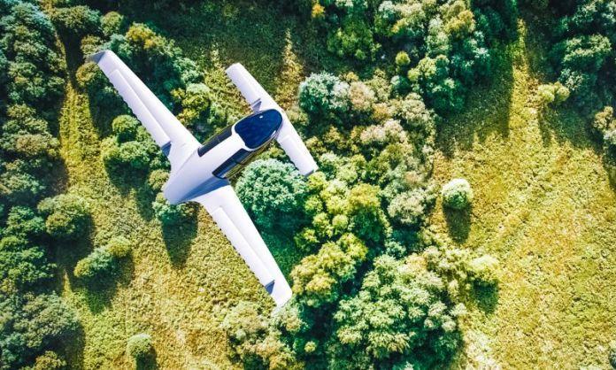 Lilium Jet Flying VTOL Taxi Cab Electric Plane