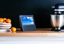 Amazon Echo Show Black Kitchen Counter KitchenAid Aid Speaker Video