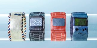 Retro Papr Watch Paprcuts Startup Germany Berlin Wearables Styles Options Game Boy Tech