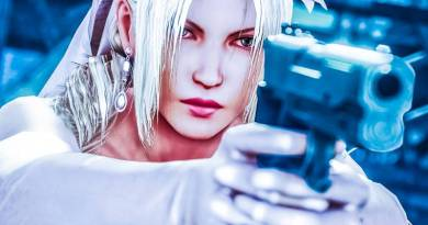 Nina Williams Married Wedding Mafia Outfit in Tekken 7 Pistol Holding Female Fighter Game