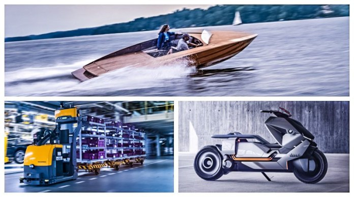 3 New BMW i Concepts Link Material Train Boat EV Battery