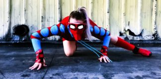 Female Spider Man Spiderman Costume Contest Challenge Tiffany Mink Sony Goodwill