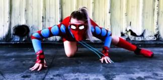Female Spider Man Spiderman Costume Contest Challenge Tiffany Mink Sony Goodwill