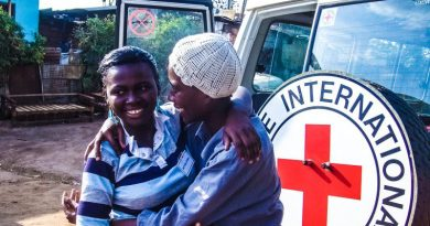 ICRC Red Cross Two Women Family Reunion Crisis Apps Google SOS Alerts Maps Search News