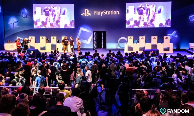 PlayStation Sony Booth Exhibition Space Gamescom Cologne Germany 2017