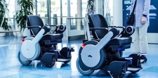 Panasonic Haneda Whill Next Airport Mobility Support Wheelchair Robotic Autonomous Self Driving Tandem Single File Navigation App Smartphone Staff Help