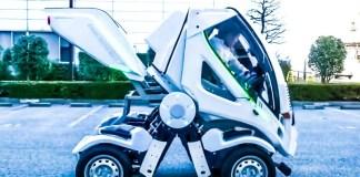 大河原 邦男 Gundam Anime Mecha Designer Car Future Vehicles Foldable Transformers Kunio Okawara Earth-I Earth-1 Four Link Systems Japanese Tokyo Motor Show New Innovation Space Parking Lots