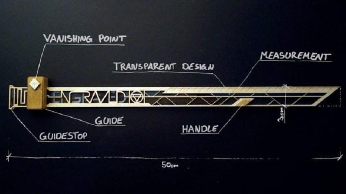 vpr vanishing point ruler engraved kickstarter graz austria Lukas Kienreich concept design prototype
