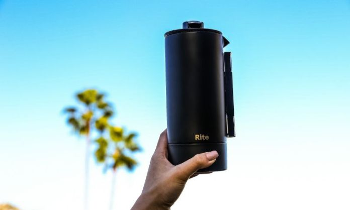 Rite Press How to make french press coffee holding palms holiday