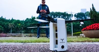 LeveTop Foldable Autonomously Flying Steered Automatic Drone Camera HD Following Video Review