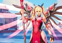 Mercy Guardian Angel Blizzard Overwatch Breast Cancer Skin Research Raising Money Funding Foundation News Angela Ziegler Doctor