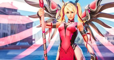 Mercy Guardian Angel Blizzard Overwatch Breast Cancer Skin Research Raising Money Funding Foundation News Angela Ziegler Doctor