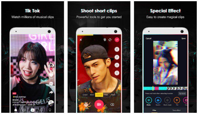 Tik Tok App Screenshots Music Video Chinese Musicaly Alternative Social Media Network
