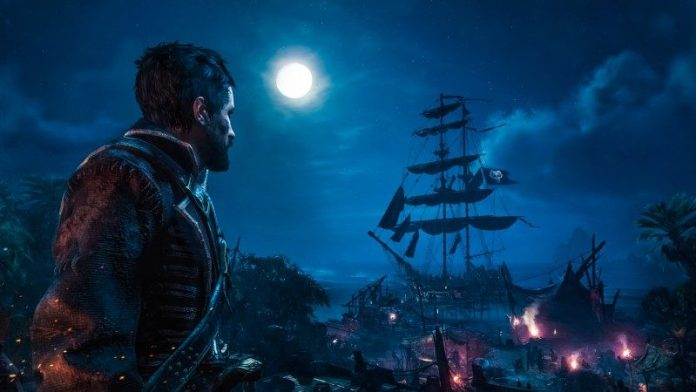 Skull and Bones E3 Ubisoft Release News Preview Pirate Game Conference Farren Ships Captain At Night Harbor Island Dock