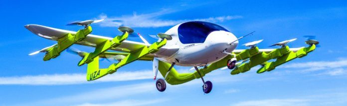 Kitty Hawk Cora Air Taxi Unmanned Plane Self Flying Car Vehicles Mid Air Airborne