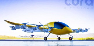 Kitty Hawk Cora Air Taxi Unmanned Plane Self Flying Car Vehicles New Flight Solution