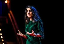 Yasmin Green director of research and development at Jigsaw Alphabet extremism online harrasment social media bad actors ai technology video ted talks speech