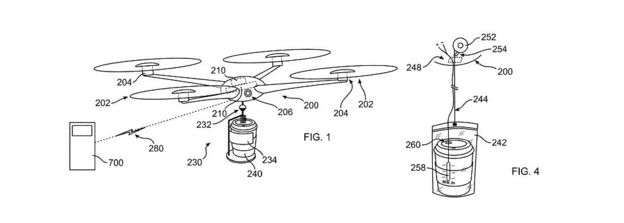 IBM Coffee Drone Technical Drawing Concept Art Patent File