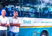 Shuttl Management in front of fleet bus series b funding amazon india dentsu vc news new delhi
