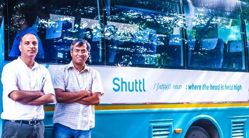 Shuttl Management in front of fleet bus series b funding amazon india dentsu vc news new delhi
