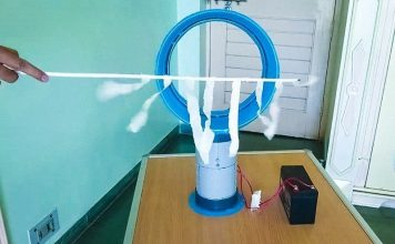 How to Make a Bladeless Fan using Plastic bucket at Home Navin Khambhala crazyNK DIY Air multiplier Hidden Blade Fan