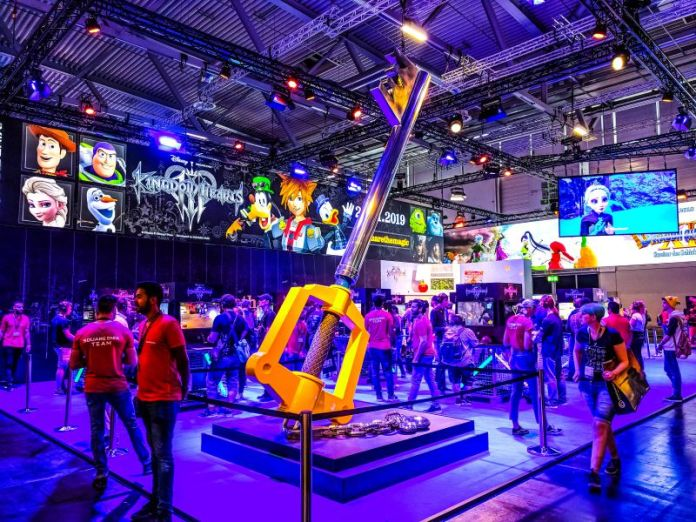 Gamescom Square Enix Kingdom Hearts 3 Booth Event Gamers Tencent News