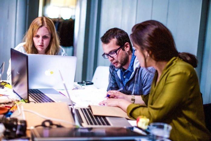 Group Team Startup Workshop Brainstorming Doing Work Laptop Office Business Learning VeriSM ITSM Service Management Skills Knowledge eLearnist Zone Professional Education