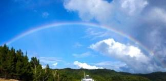 Kentaro Ohno Rainbow Blue Sky Lecture Physics