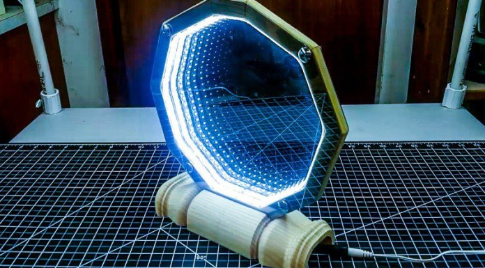 DIY How To Build A Desk Infinity Mirror That Looks Like A Stargate Crafting Projects