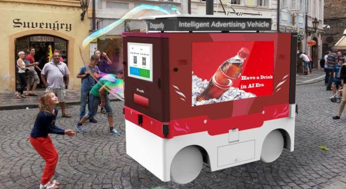 PerceptIn DragonFly Intelligent Advertising Vehicle Concept Image