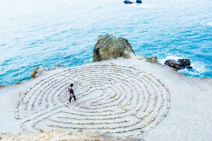 Zen Calm Walking Maze Mood Feeling