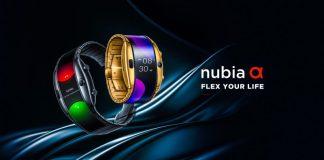 ZTE Numbia Alpha Flexible Smartphone Smartwatch Android Wear Flip