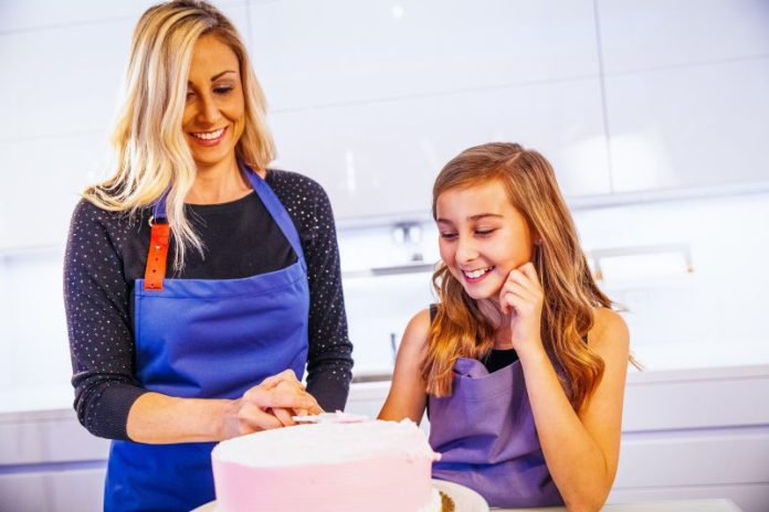 Baking With Mom And Daughter Antibacterial Spyce Apron By OURA Kitchen Cooking Tech Gadgets Hygiene