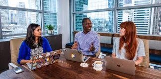 Slack Offices Team Working Together Microsoft Teams Comparison Crop